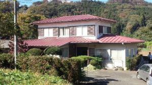 渋川市 金属製の瓦棒葺き屋根塗装工事前