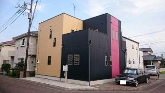 高崎市 金属外壁の塗装 施工前