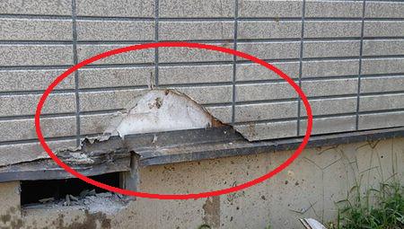 サイディングの外壁破損