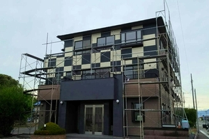 住宅塗装 アサヒペイント 足場組立