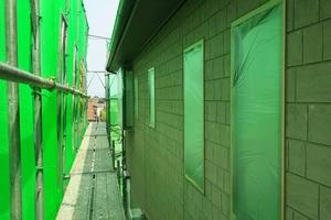 住宅塗装 アサヒペイント ビニール養生