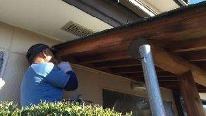 群馬県 前橋市 塗替えリフォーム 玄関木部塗装