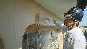 群馬県 前橋市 塗替えリフォーム 外壁上塗り