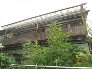 群馬 塗装 外壁 屋根 着工前ベランダ