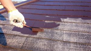 群馬県 前橋市 塗り替えリホーム 屋根上塗り1回目