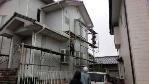 群馬 塗装 外壁 屋根 足場組立