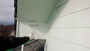 群馬 塗装 外壁 軒天下塗り