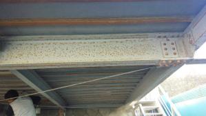 群馬 前橋 外壁塗装 車庫天井さびとり