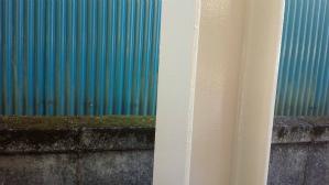 群馬 住宅塗装 塗り替えリフォーム 車庫鉄骨塗装