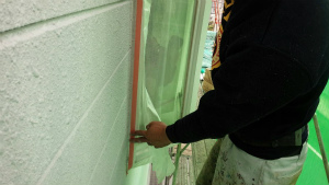 群馬 塗装 外壁 屋根 養生中