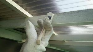 群馬 塗装 外壁 屋根 ベランダテラス下塗り中