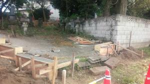 ブロック工事 型枠工事