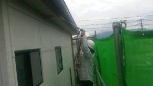 群馬 塗装 外壁 屋根 洗浄中