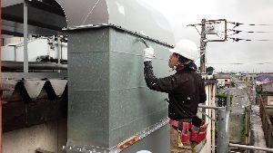 群馬県 前橋市 塗替えリフォーム ダクト塗装工事