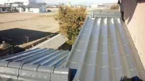 群馬 前橋 屋根塗装 下屋根完成