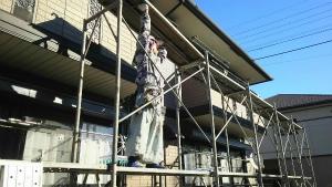 群馬 前橋 塗り替えリフォーム 足場組立