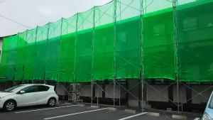 群馬県 前橋市 塗替えリフォーム 足場メッシュ