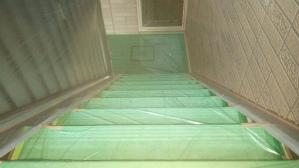 群馬 前橋 住宅塗装 階段養生