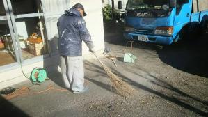 群馬県 前橋市 外壁塗装工事 清掃作業