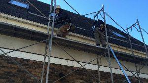群馬 前橋 屋根の塗り替え 足場工事