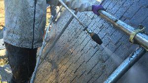 前橋 富士見 屋根塗装 洗浄作業するところ