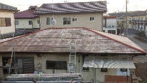 群馬県 前橋市 塗り替えリホーム 屋根洗浄後