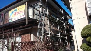 群馬 前橋 住宅塗装 足場組立