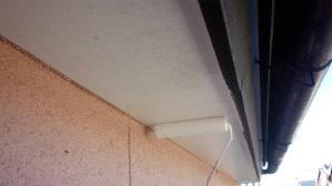 群馬 前橋 住宅塗装 軒天下塗り