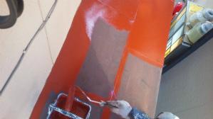群馬 高碕 塗り替え 屋根塗装 上塗作業