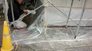 群馬県 前橋市 外壁塗装 外壁養生作業