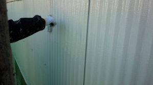 群馬県 前橋市 外壁塗装 上塗り作業