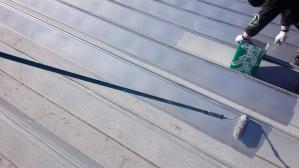 群馬 前橋 工場塗装 屋根1回目塗装