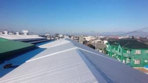 前橋 天川大島 工場屋根塗装 塗り替え