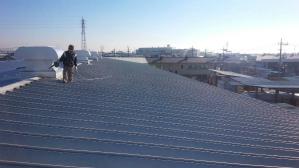 群馬 前橋 工場塗装 屋根の塗替え