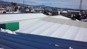 群馬 前橋 工場塗装 大雪屋根写真