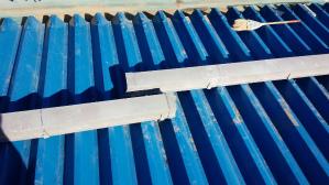 群馬 前橋 工場屋根塗装 雨樋取付
