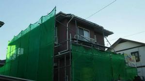 群馬 前橋 お家の塗替え 足場設置