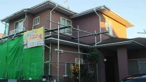 群馬 前橋 住宅塗装 足場設置