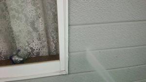 群馬 塗替 住宅塗装 洗浄中