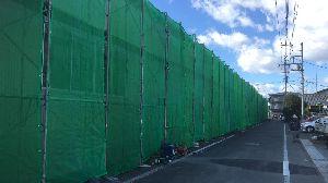 群馬県 前橋市 外壁塗装 養生ネット完成