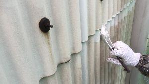 群馬県 前橋市 外壁塗装 ハケ塗装作業
