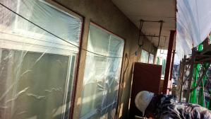 群馬 前橋 塗装 養生作業