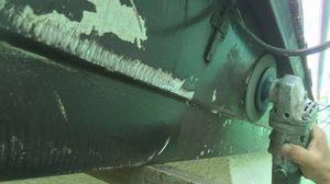 群馬 塗装 前橋 破風板ケレン作業