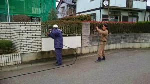 塗装 群馬 前橋 ブロック塀洗浄