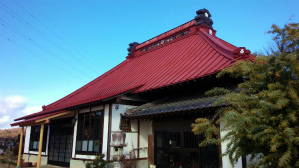 群馬 塗装 屋根塗装 お寺塗装前