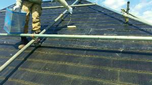 群馬 塗装 前橋 屋根塗装下塗り