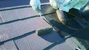 群馬 塗装 前橋 屋根中塗り