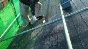 群馬 前橋 塗装 屋根塗装下塗り