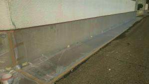 群馬 塗装 前橋 塀の養生