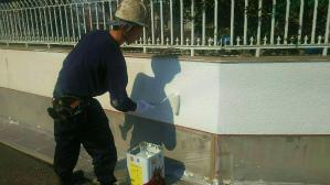 群馬 塗装 前橋 ブロック塀下塗り